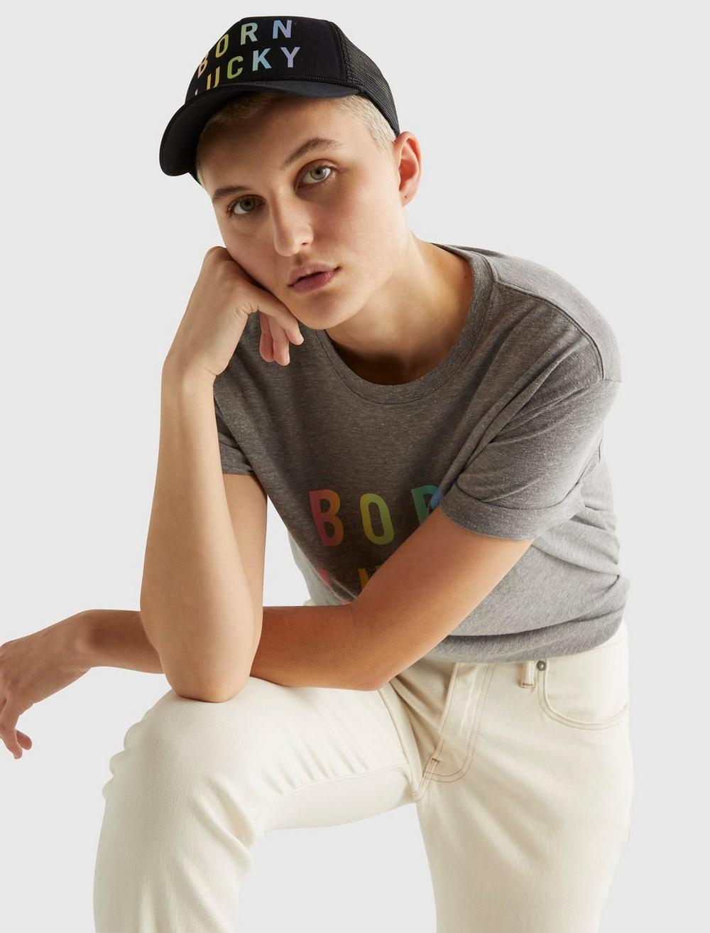 PRIDE BORN LUCKY GENDER NEUTRAL TEE, image 12