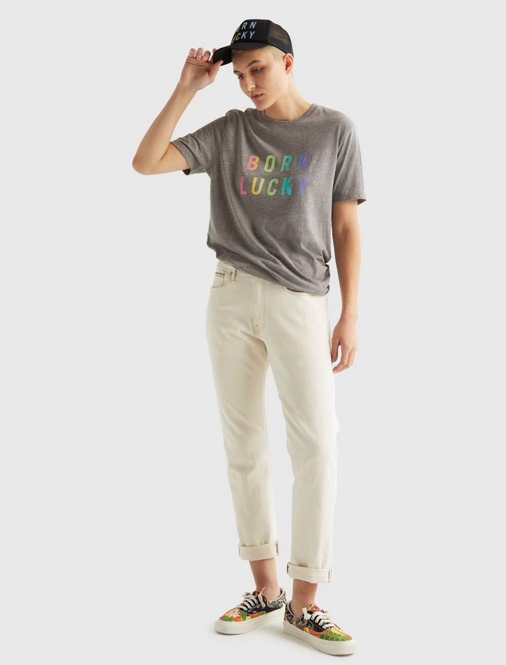 PRIDE BORN LUCKY GENDER NEUTRAL TEE, image 8
