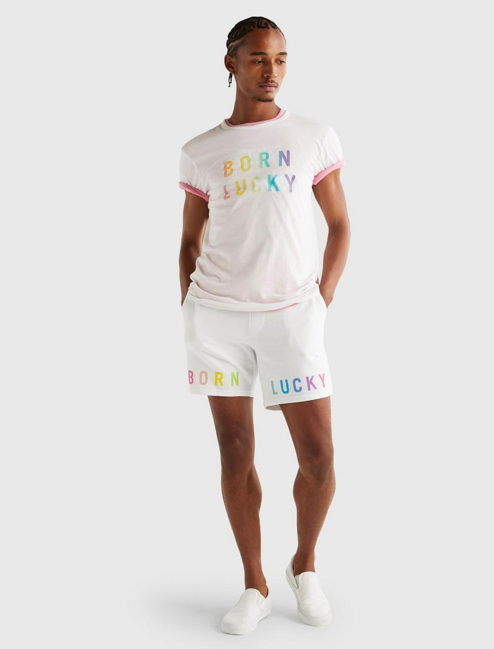 PRIDE BORN LUCKY GENDER NEUTRAL TEE, image 2