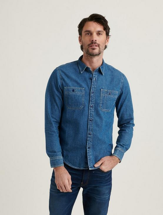 DOUBLE POCKET WORK SHIRT, WORK BLUE, productTileDesktop