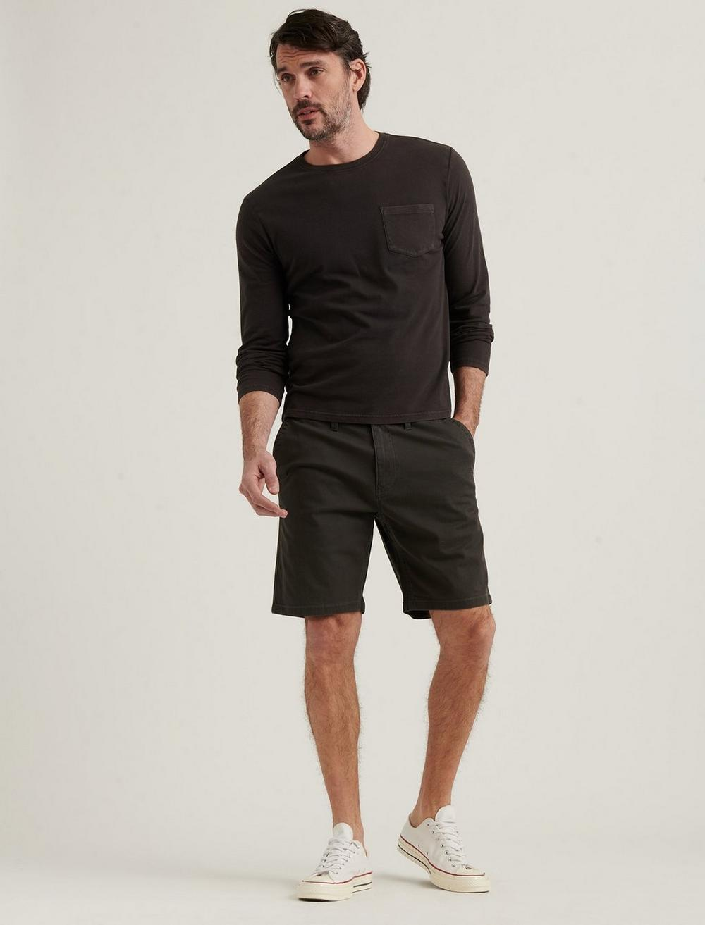 STRETCH TWILL FLAT FRONT SHORT, image 1