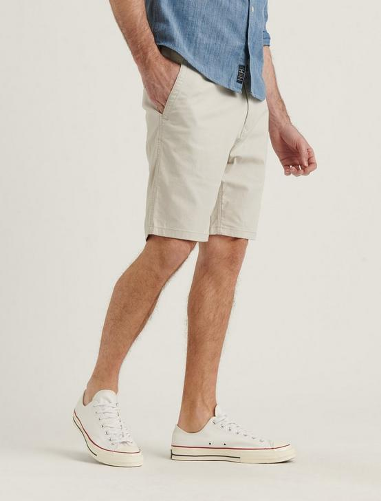 STRETCH TWILL FLAT FRONT SHORT, MOONSTRUCK, productTileDesktop