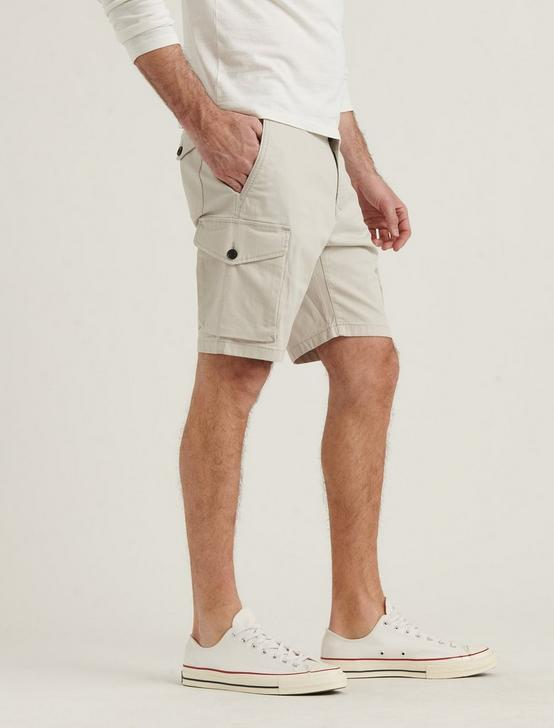 STRETCH TWILL CARGO SHORT, MOONSTRUCK, productTileDesktop