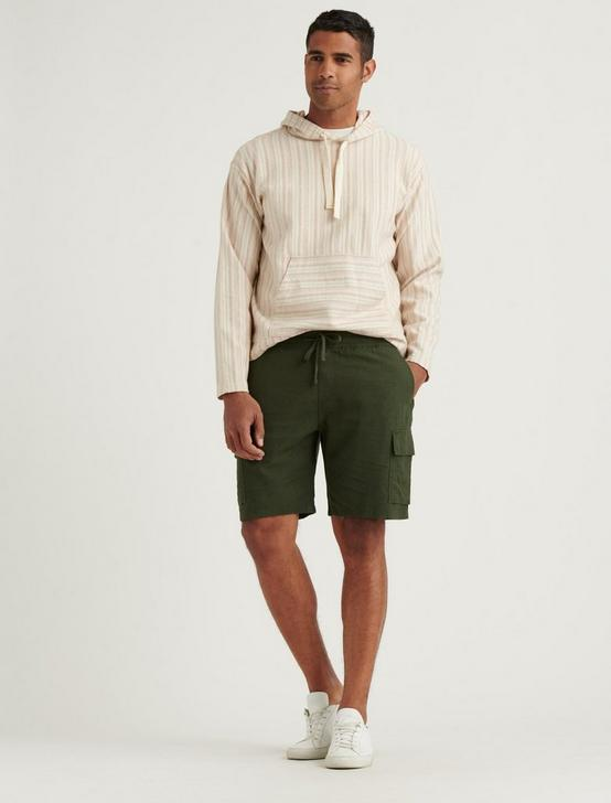 LINEN CARGO SHORT, FOREST NIGHT, productTileDesktop