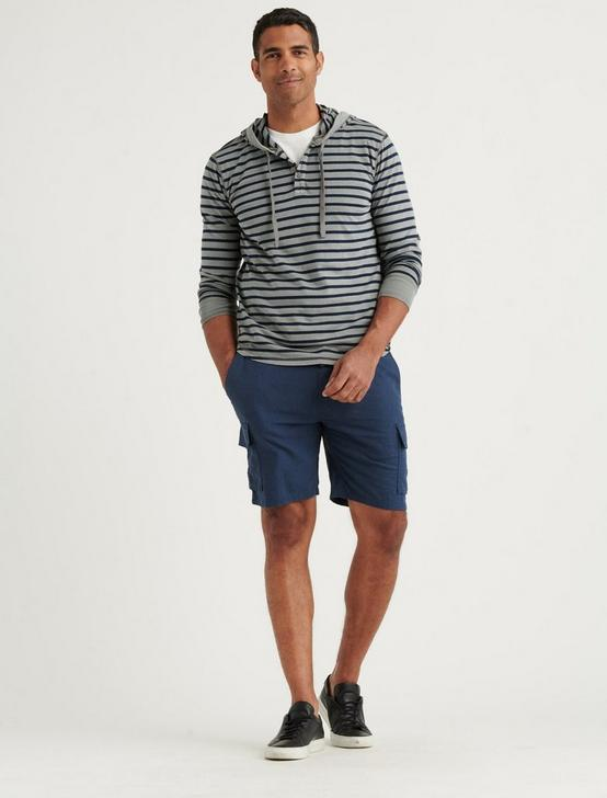 LINEN CARGO SHORT, BLACK IRIS, productTileDesktop