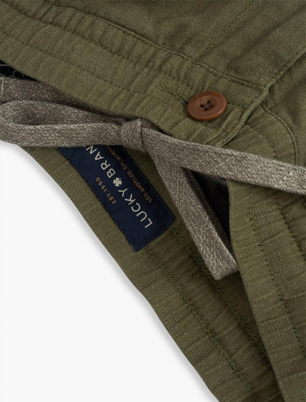 LINEN PULL UP CARGO PANT, image 2
