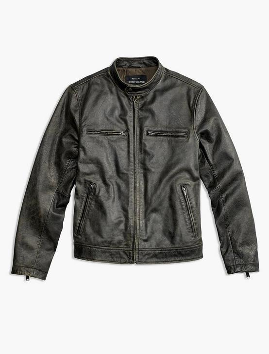 LEATHER JACKET, FADED BLACK, productTileDesktop
