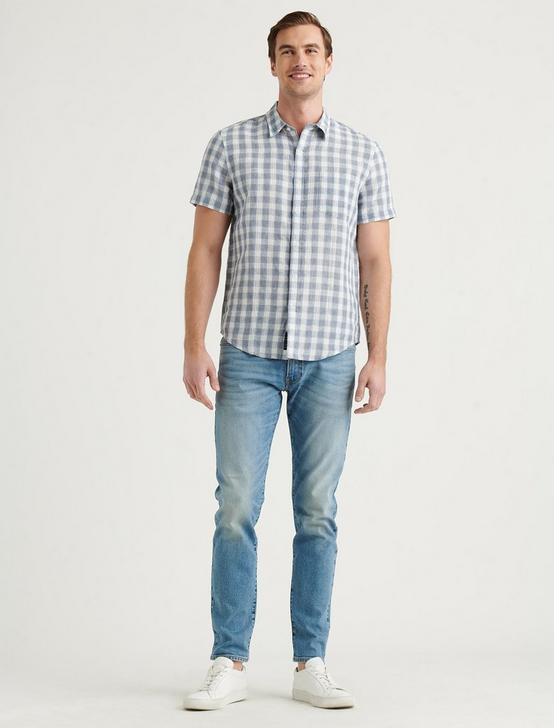 BALLONA ONE POCKET SHORT SLEEVE SHIRT, BLUE PLAID, productTileDesktop