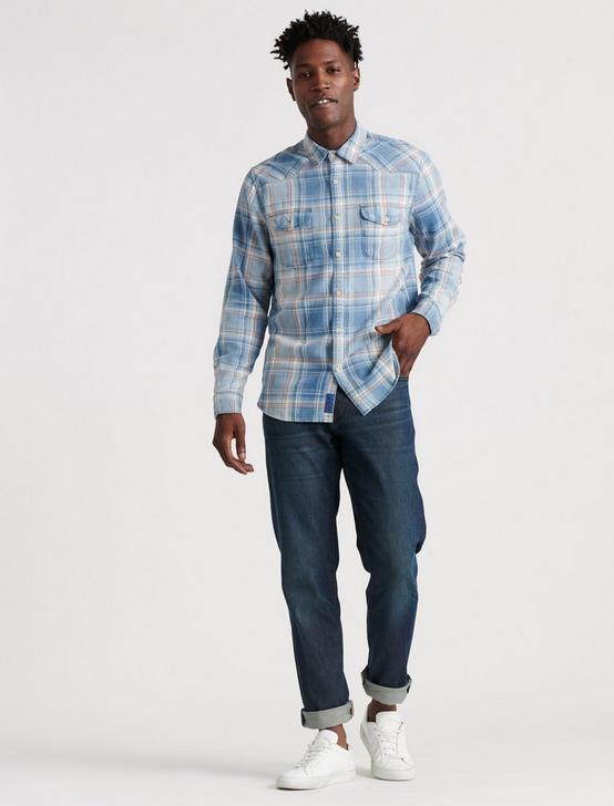 Grom Indigo Western Shirt, LOODPLAIN, productTileDesktop