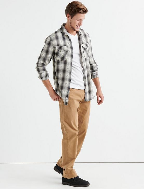 Dobby Western Shirt, NATURAL/BLACK, productTileDesktop
