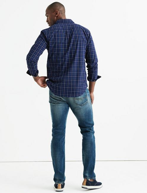 One Pocket BALLONA Shirt, BLUE PLAID