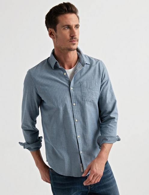 Lucky Long Sleeve One Pocket Ballona Shirt