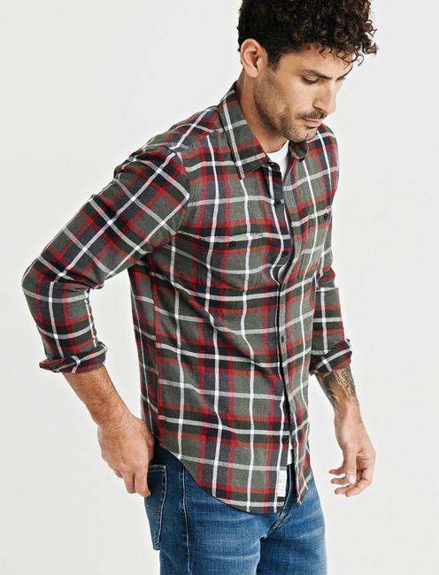 Nep Mason Workwear Shirt, DARK HEATHER GRAY