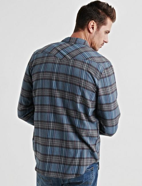 Mateo Western Shirt, BLUE PLAID