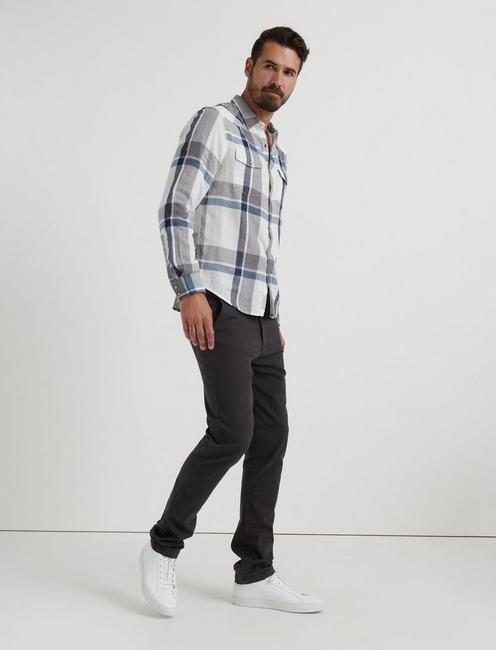 Double Weave Western Shirt, BLUE PLAID