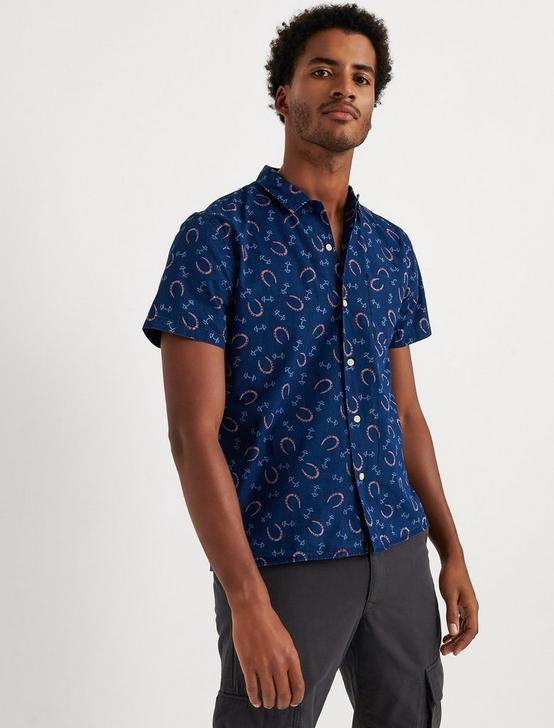 Indigo Club Collar Shirt, BLUE PRINT, productTileDesktop
