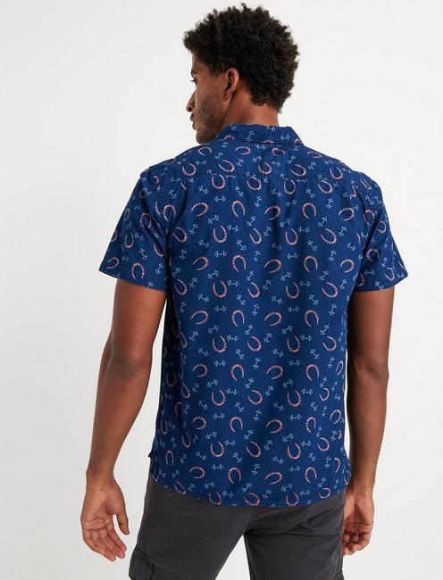 Indigo Club Collar Shirt, BLUE PRINT