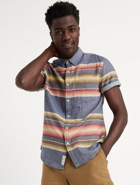 Double Weave Sunset One Pocket Shirt, MULTI, productTileDesktop
