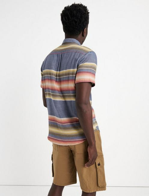Double Weave Sunset One Pocket Shirt, MULTI