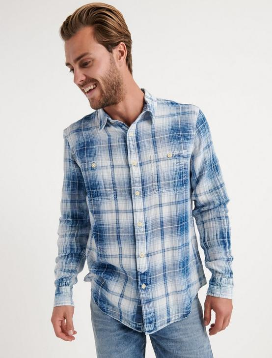 Indigo Mason Workwear Shirt, BLUE PLAID, productTileDesktop