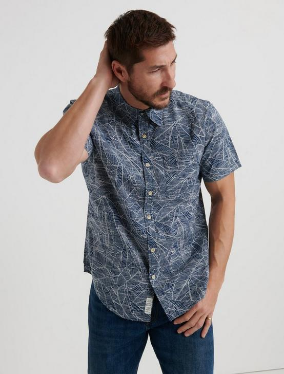PRINTED 1 POCKET SHIRT, BLUE PRINT, productTileDesktop