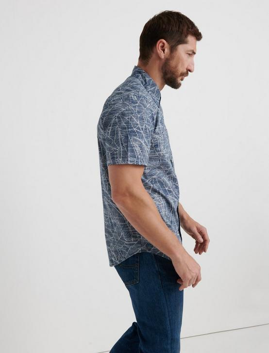 Botanical One Pocket Shirt, BLUE PRINT, productTileDesktop