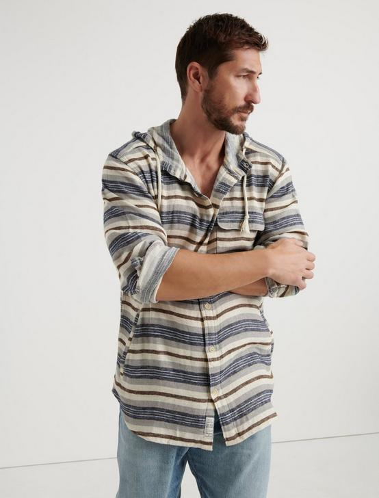 Huntington Stripe Hoodie, NATURAL/BLUE STRIPE, productTileDesktop