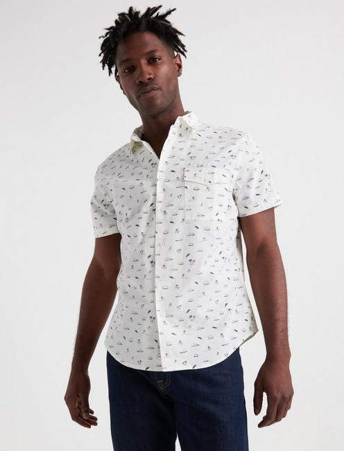 Fun in the Sun One Pocket Shirt, WHITE
