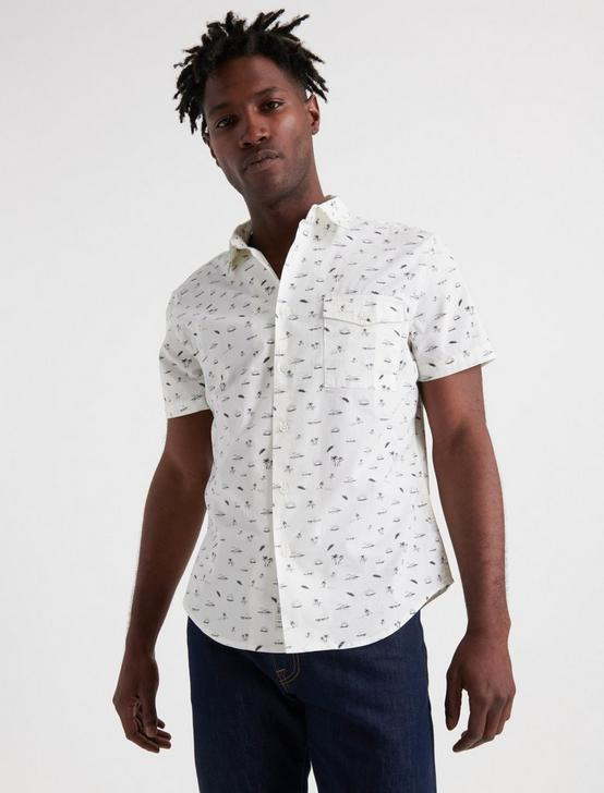 Fun in the Sun One Pocket Shirt, WHITE, productTileDesktop