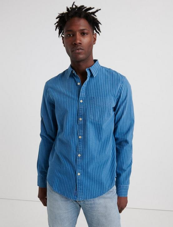 INDIGO STRIPED 1 POCKET SHIRT, BLUE STRIPE, productTileDesktop