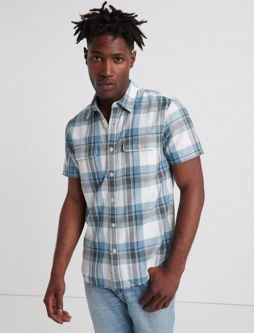 PLAID DOUBLEWEAVE WORKWEAR SHIRT, BLUE PLAID