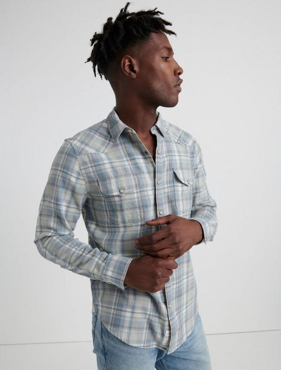 SANTA FE WESTERN SHIRT, WASHED BLUE, productTileDesktop