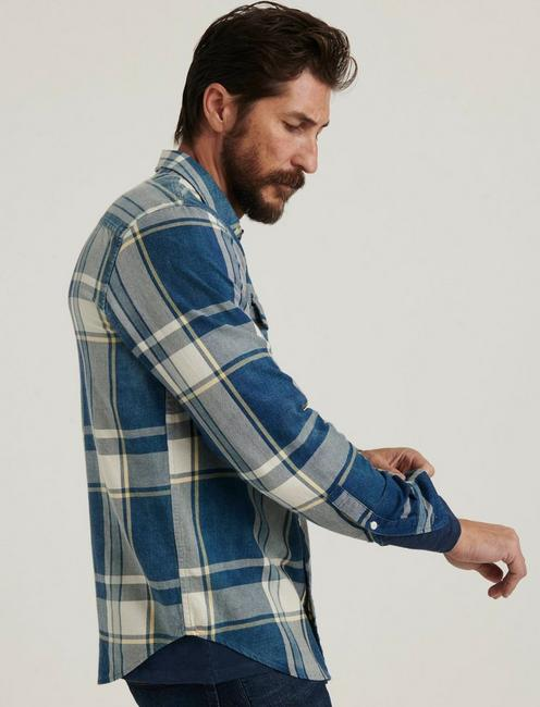 INDIGO WORKWEAR SHIRT, BLUE PLAID