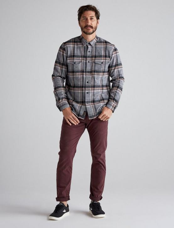 LS REDWOOD WORKWEAR SHIRT, GREY PLAID, productTileDesktop