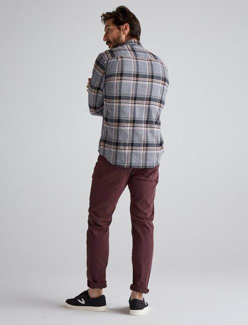 LS REDWOOD WORKWEAR SHIRT, GREY PLAID