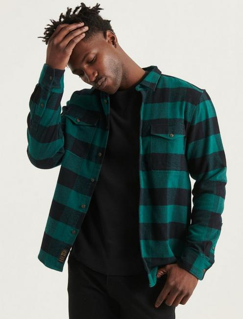 STRETCH FLANNEL REDWOOD WORKWEAR LONG SLEEVE SHIRT,