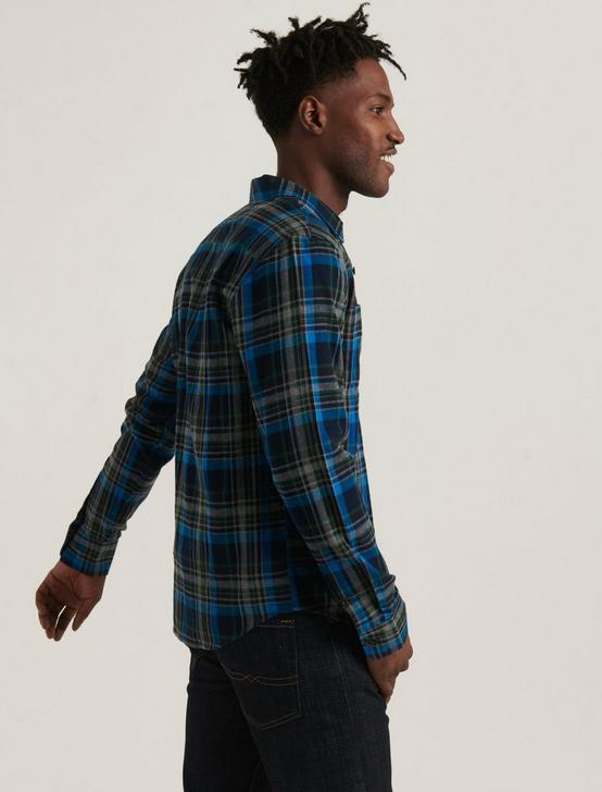 MASON WORKWEAR LONG SLEEVE SHIRT, BLUE PLAID, productTileDesktop
