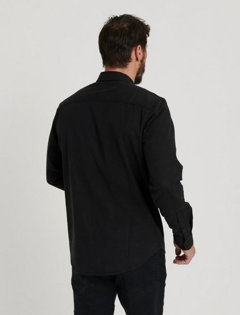 MITER WORKWEAR LONG SLEEVE SHIRT, JET BLACK