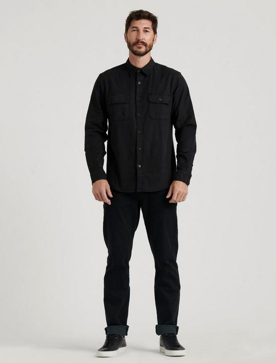 MITER WORKWEAR LONG SLEEVE SHIRT, JET BLACK, productTileDesktop