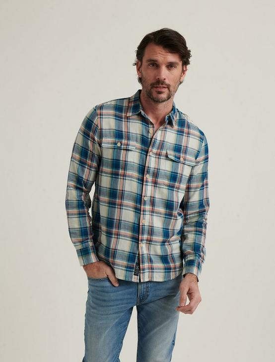 HUMBOLDT WORKWEAR SHIRT, BLUE PLAID, productTileDesktop