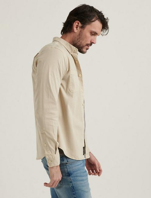 TENCEL MASON WORKWEAR LONG SLEEVE SHIRT, MOONSTRUCK