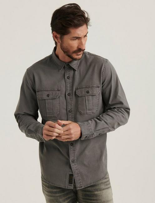 MONTANA MITER WORKWEAR LONG SLEEVE SHIRT, GARGOYLE
