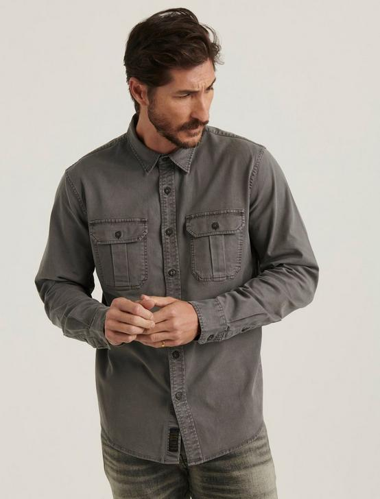 MONTANA MITER WORKWEAR LONG SLEEVE SHIRT, GARGOYLE, productTileDesktop