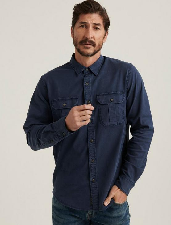 MONTANA MITER WORKWEAR LONG SLEEVE SHIRT, #437 NAVY, productTileDesktop
