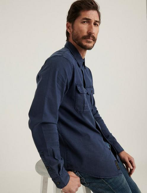 MONTANA MITER WORKWEAR LONG SLEEVE SHIRT, #437 NAVY