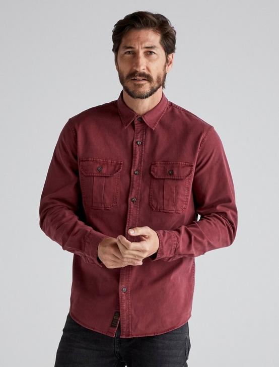 MONTANA MITER WORKWEAR LONG SLEEVE SHIRT, BURGANDY, productTileDesktop
