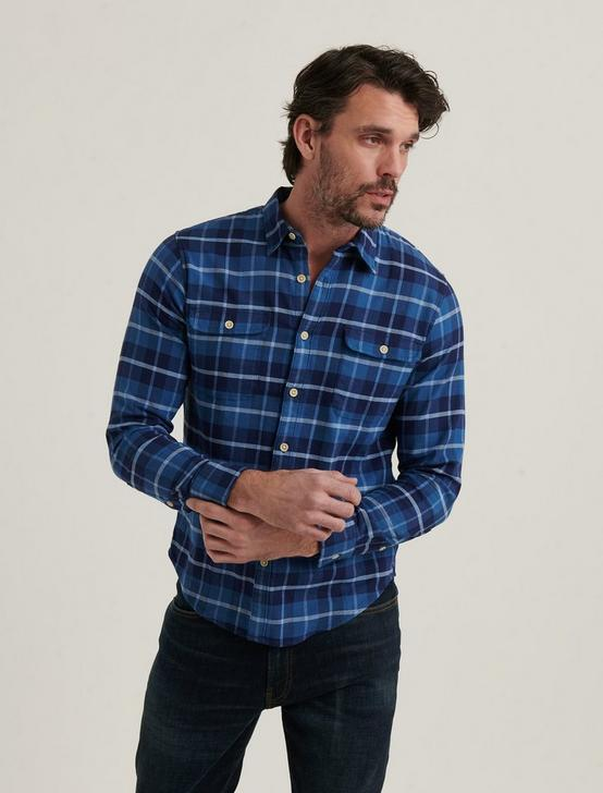 HUMBOLD WORKWEAR SHIRT, BLUE PLAID, productTileDesktop