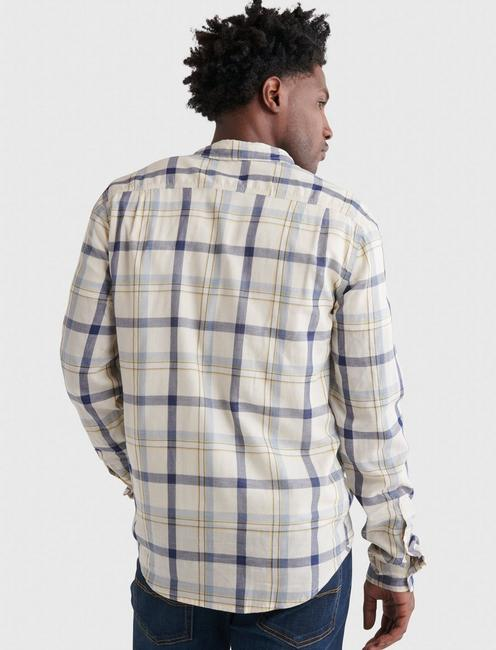 DOUBLE WEAVE MASON WORKWEAR LONG SLEEVE SHIRT, BLUE PLAID