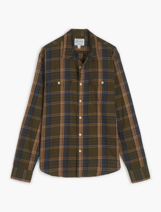 MATEO TWILL HUMBOLDT WORKWEAR LONG SLEEVE SHIRT, GREEN PLAID, productTileDesktop