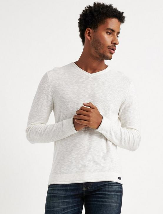 WELTER WEIGHT V-NECK, MARSHMALLOW, productTileDesktop